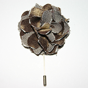 Brown Bronze Flower Lapel Pin