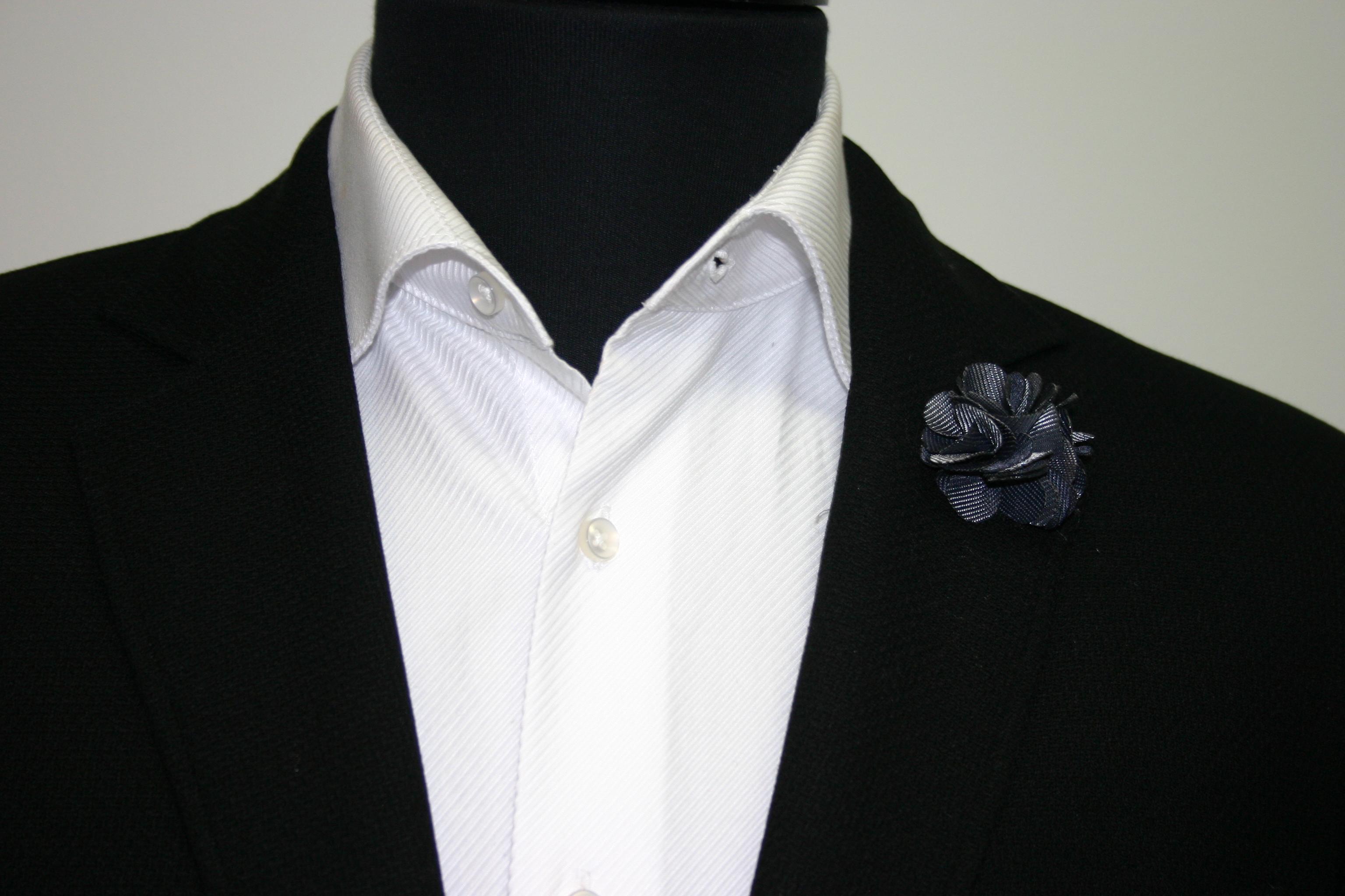 Clooney steel flower lapel pins grey colored lapel pins dhlflorist Choice Image