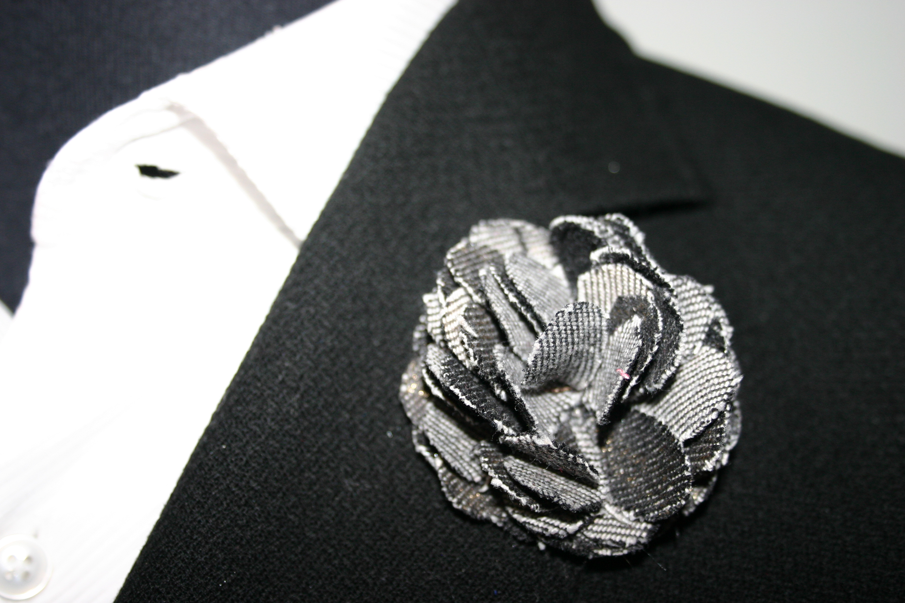 Pitt smoke tie dye flower lapel pins grey flower pin smoke tie dye lapel flower pin dhlflorist Choice Image