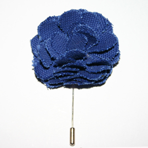 Blue Lapel Flower Pin