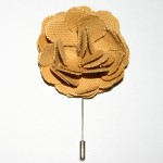 Gold Flower Lapel Pins