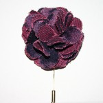 Magenta Flower Lapel Pin