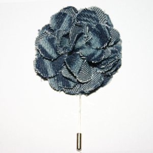 Indigo Flower Lapel Pins
