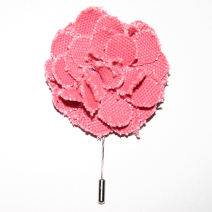 Pink Lapel Flower Pin