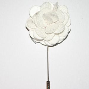 Snow Lapel Flower Pin