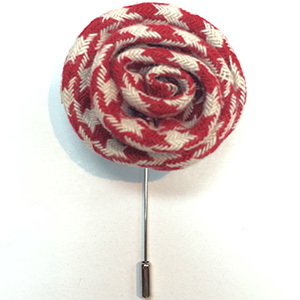 Red Flower Lapel Pins