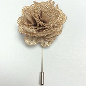 Beige Flower Lapel Pin